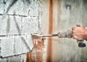 фото демонтаж фасадной штукатурки