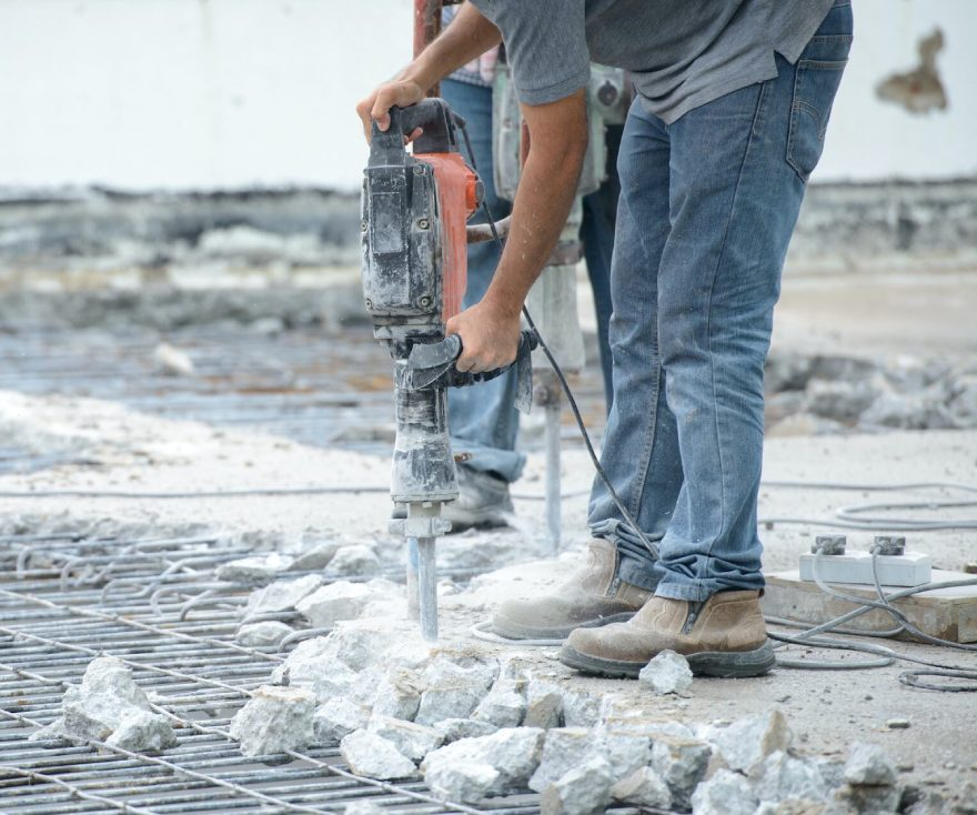 фото демонтаж бетонной стяжки