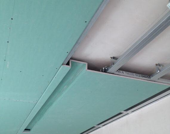 фото монтаж гипсокартонных потолков