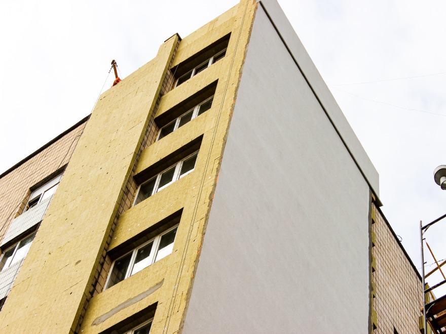фото монтаж утеплителя на фасад