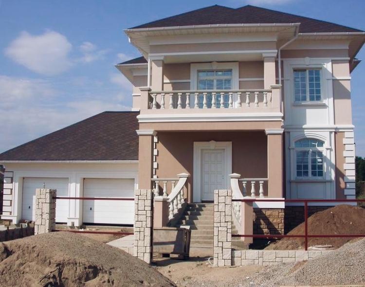фото облицовка фасада частного дома