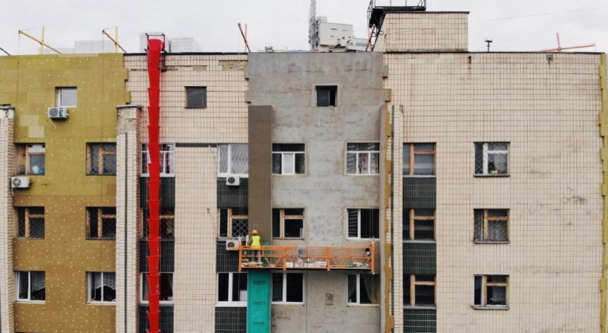 фото утепление фасада больницы