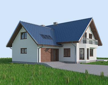project doma s mansardoy